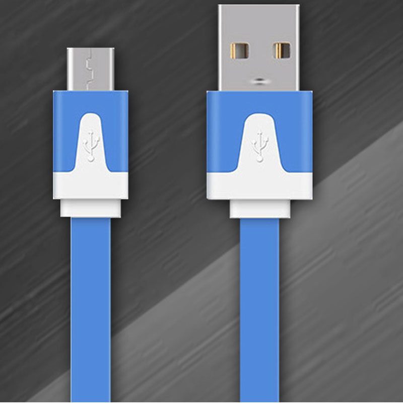 USB Cable Iphone Colorful Flat Data Cable Micro USB Wire Charging Charger Cable for iPhone 6